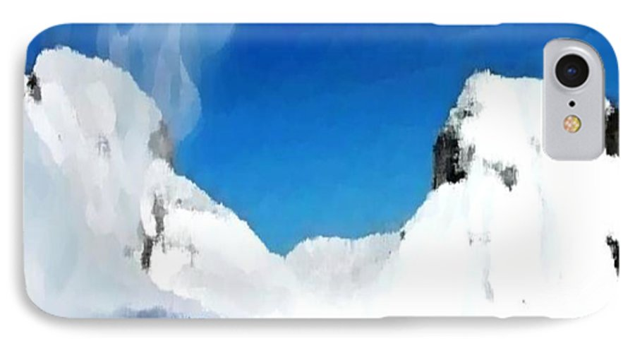 Landacape IPhone 7 Case featuring the digital art Winter Wind by Dr Loifer Vladimir