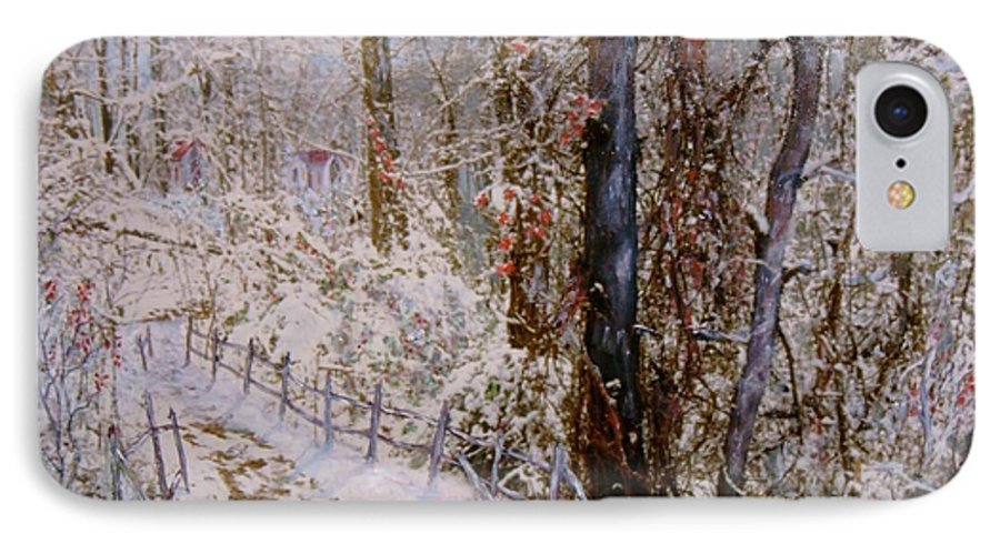 Snow; Trees IPhone 7 Case featuring the painting Winter Wonderland by Ben Kiger
