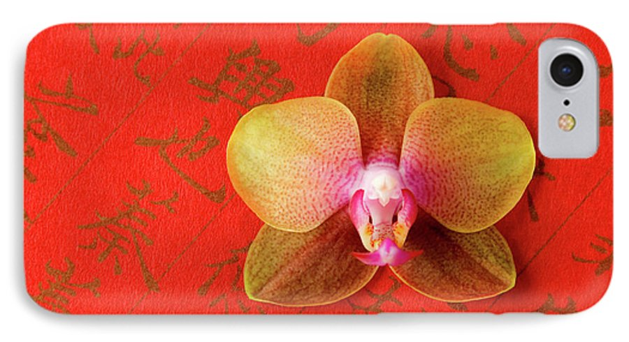Orchid IPhone 7 Case featuring the photograph Wishes Come True by Julia Hiebaum