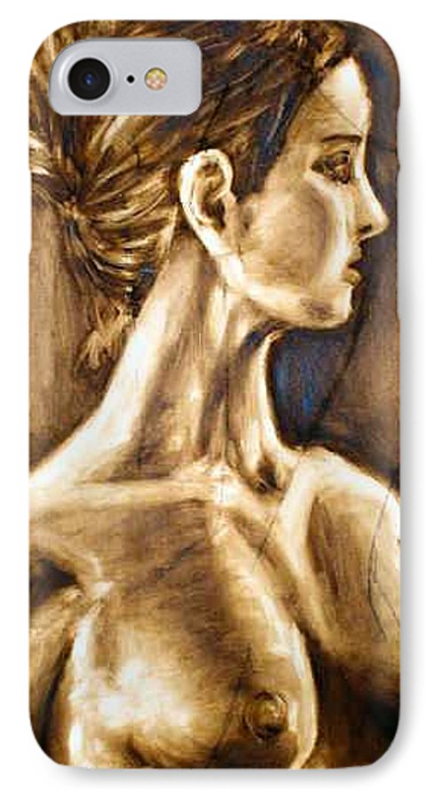 IPhone 7 Case featuring the painting Woman by Thomas Valentine