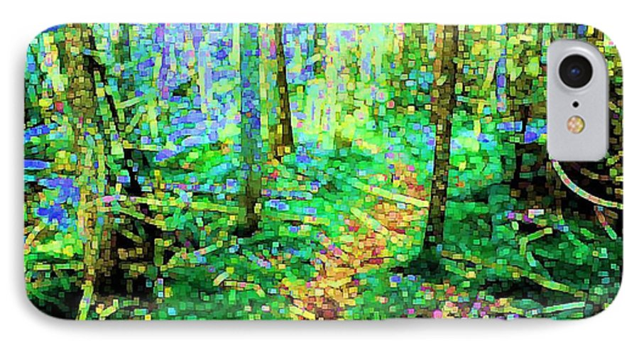 Nature IPhone 7 Case featuring the digital art Wooded Trail by Dave Martsolf