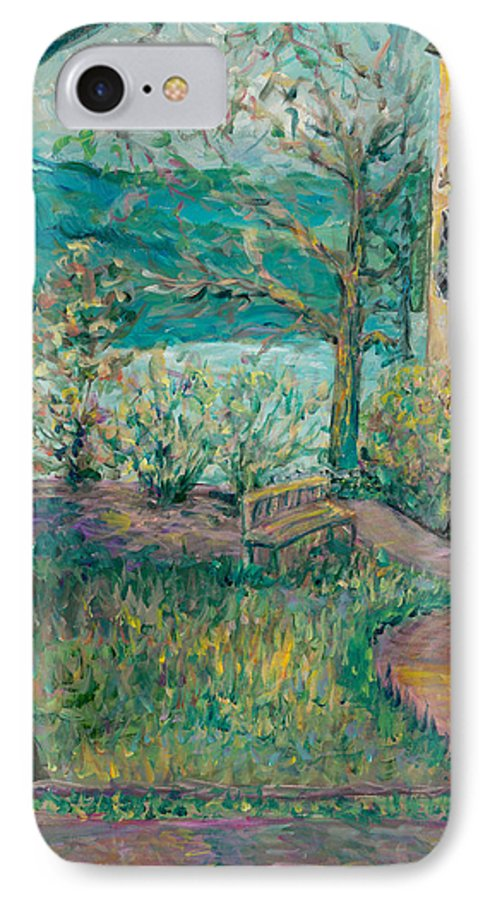 Big Cedar Lodge IPhone 7 Case featuring the painting Worman House At Big Cedar Lodge by Nadine Rippelmeyer