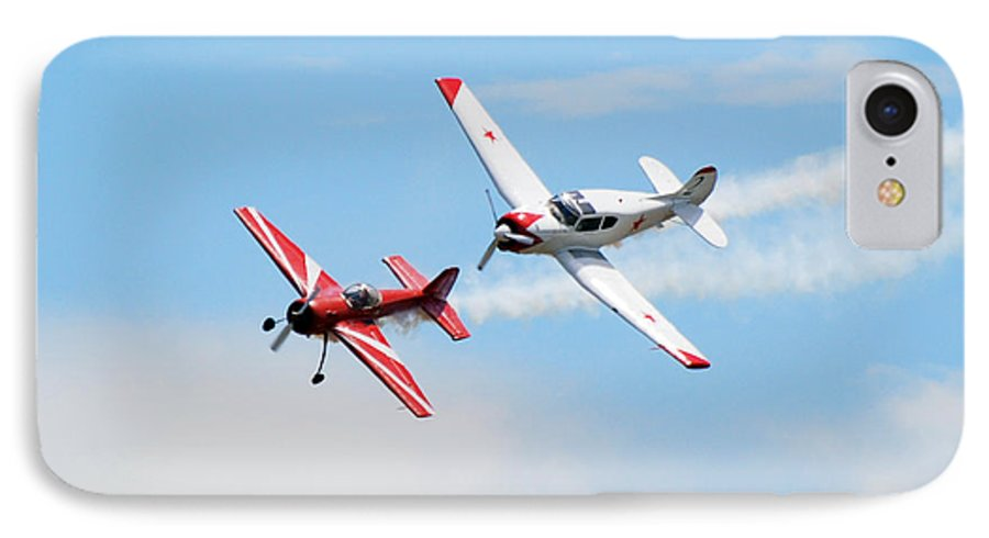 Airplanes IPhone 7 Case featuring the photograph Yak 55 And Yak 18 by Larry Keahey