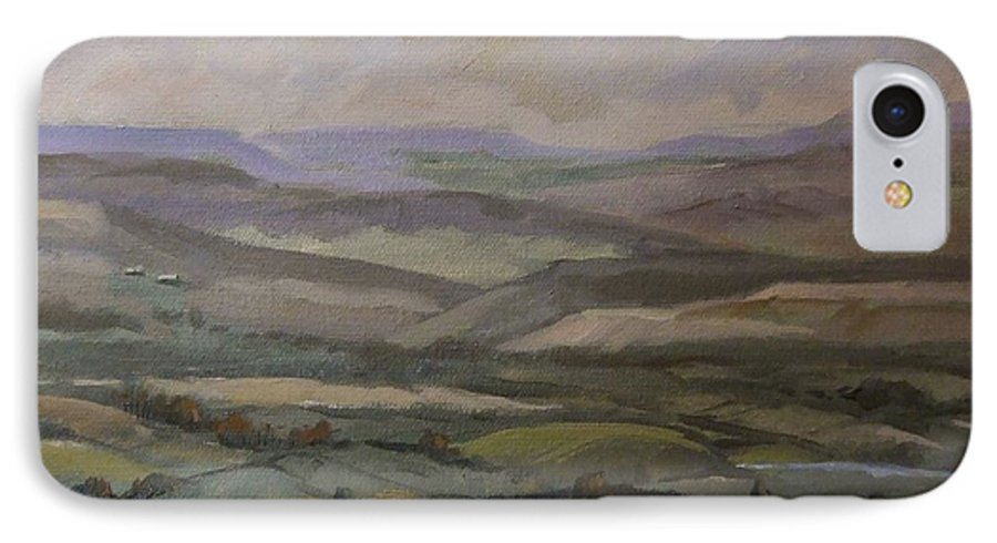 Landscape Water Trees Sky Hills IPhone 7 Case featuring the painting Yakima Vista by Ruth Stromswold