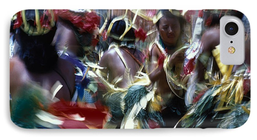 Swirling IPhone 7 Case featuring the photograph Yap Dancers In Micronesia by Carl Purcell