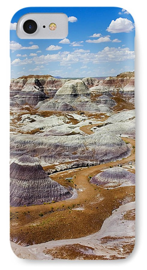 Painted Desert IPhone 7 Case featuring the photograph Yea Though I Walk by Skip Hunt