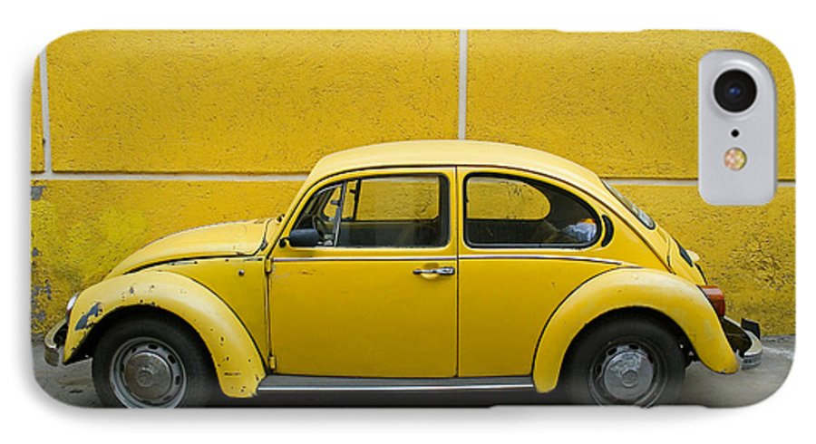 Yellow IPhone 7 Case featuring the photograph Yellow Bug by Skip Hunt