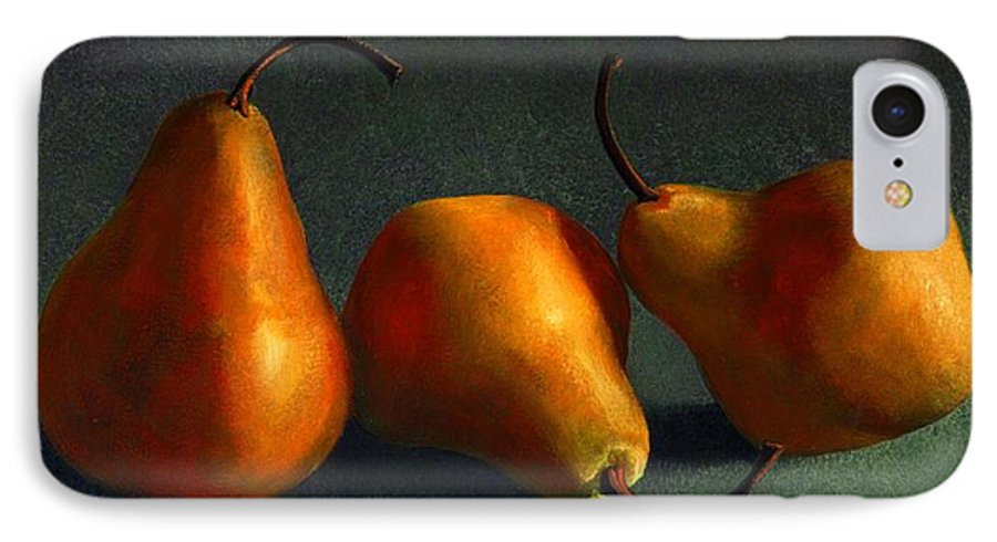 Still Life IPhone 7 Case featuring the painting Yellow Pears by Frank Wilson