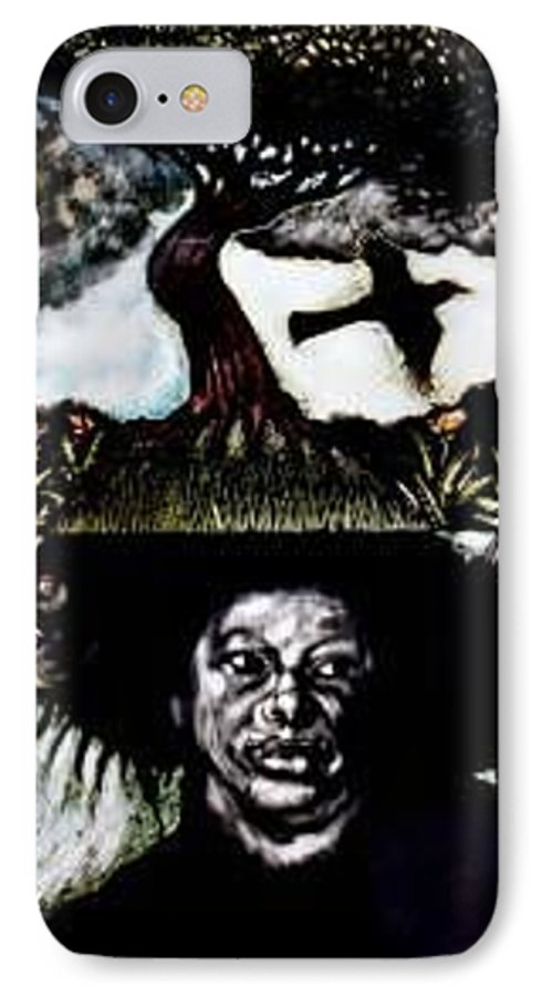Religous IPhone 7 Case featuring the mixed media Yemiya by Chester Elmore