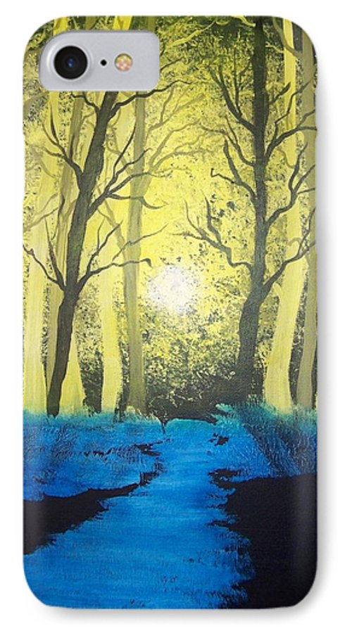 Forest IPhone 7 Case featuring the painting You Cant See The Forest For The Trees by Laurie Kidd