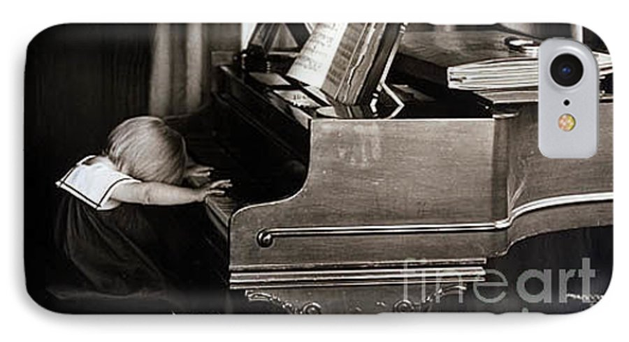 Piano IPhone 7 Case featuring the photograph Young Beethoven by Michael Ziegler