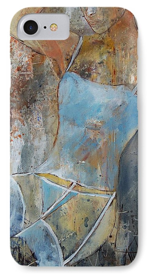 Nude IPhone 7 Case featuring the painting Young Girl 451108 by Pol Ledent