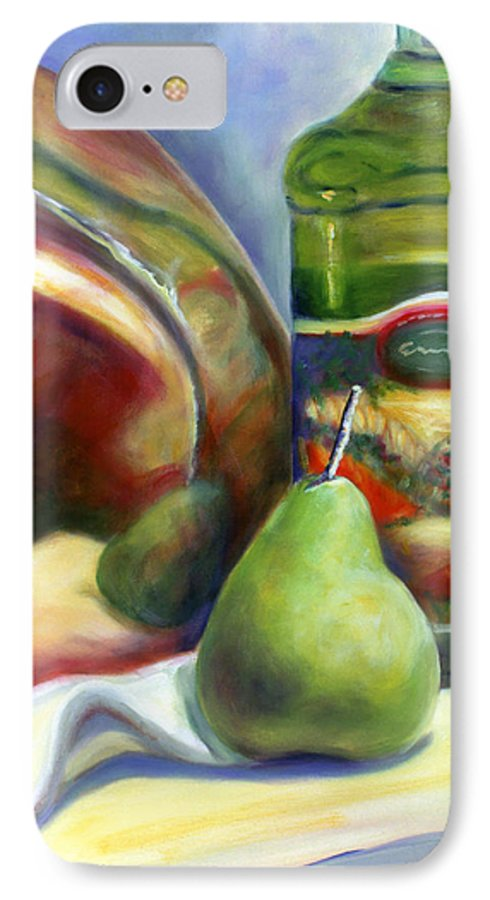 Copper Vessel IPhone 7 Case featuring the painting Zabaglione Pan by Shannon Grissom