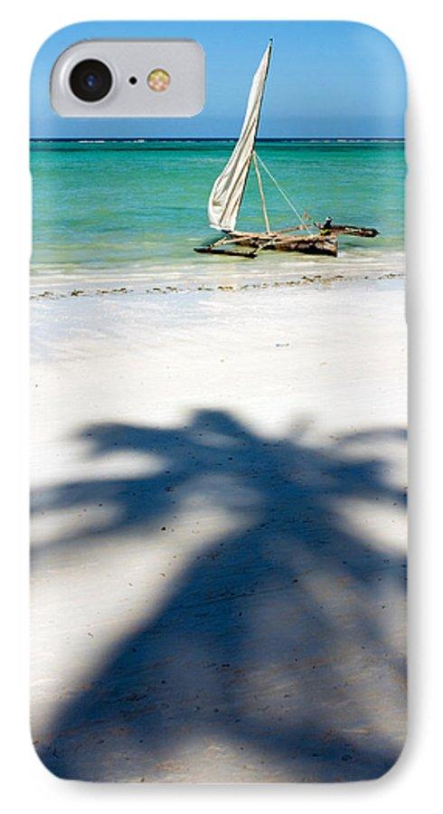 3scape IPhone 7 Case featuring the photograph Zanzibar Beach by Adam Romanowicz