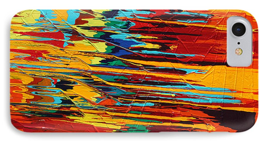 Fusionart IPhone 7 Case featuring the painting Zap by Ralph White