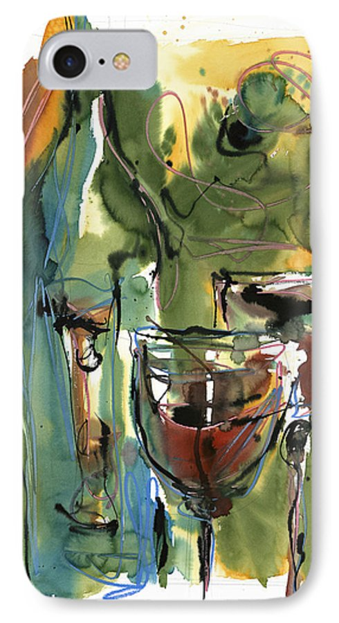 Wine IPhone 7 Case featuring the painting Zin-findel by Robert Joyner