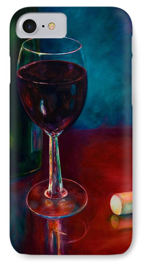 Wine Bottle IPhone Case featuring the painting Zinfandel by Shannon Grissom
