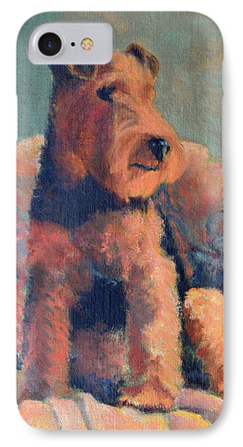 Pet IPhone 7 Case featuring the painting Zuzu by Keith Burgess