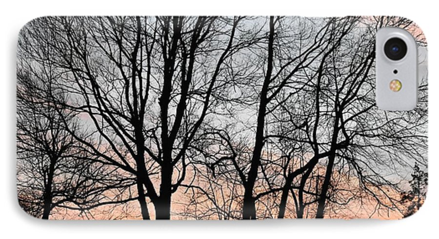 Trees IPhone 7 Case featuring the photograph Pink Sky by Cassidy Marshall