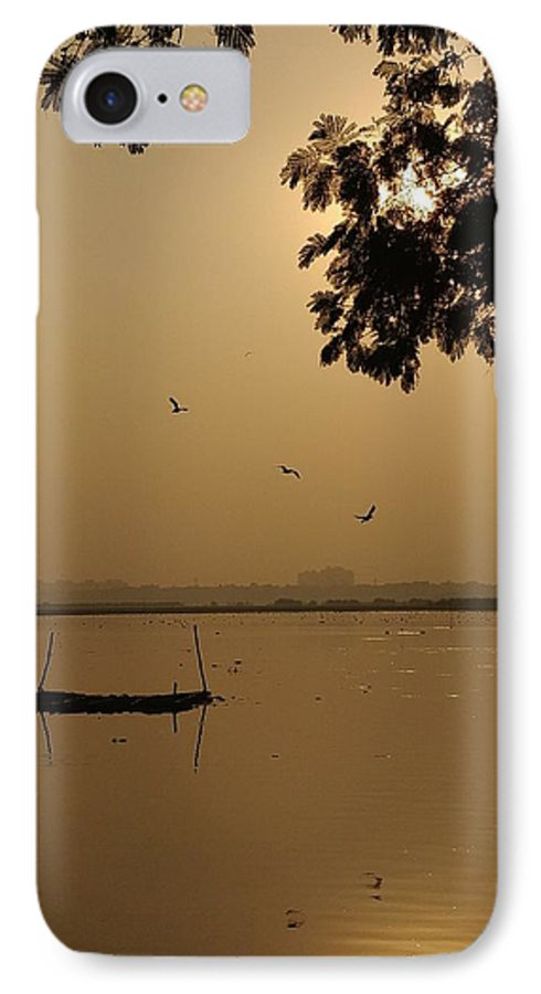 Sunset IPhone 7 Case featuring the photograph Sunset by Priya Hazra