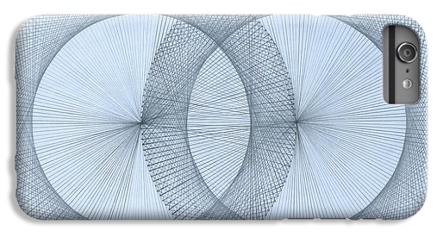 Fractal IPhone 7 Plus Case featuring the drawing Magnetism by Jason Padgett