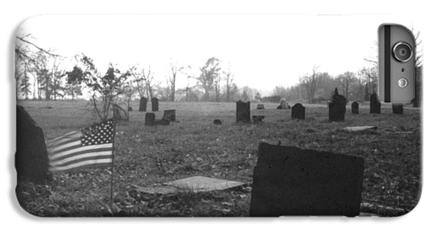 Flag IPhone 7 Plus Case featuring the photograph 10602-16bw Memorial Day 1991 by Mike Davis