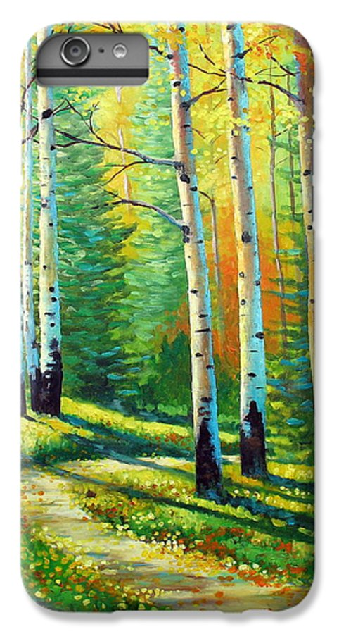 Landscape IPhone 7 Plus Case featuring the painting Colors Of The Season by David G Paul