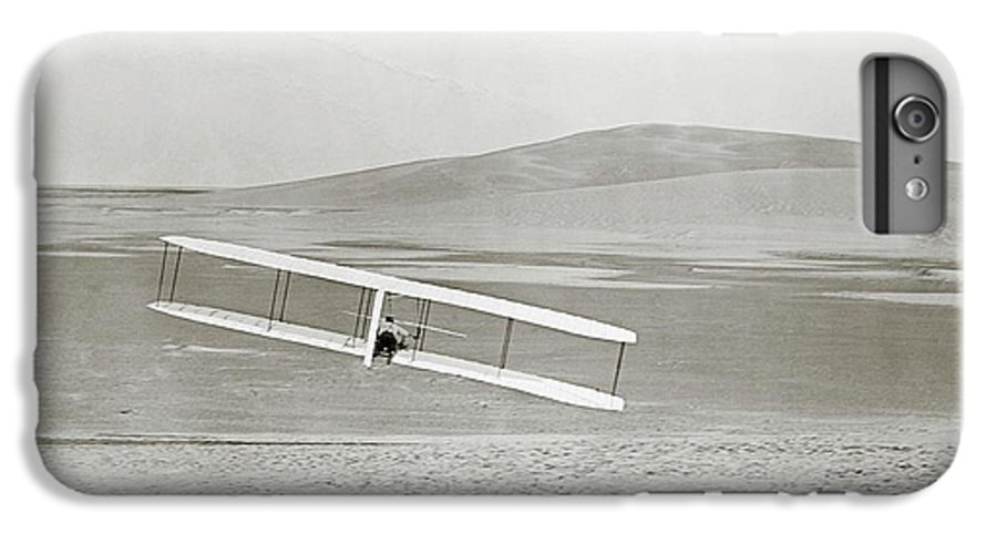Wilbur Wright IPhone 7 Plus Case featuring the photograph Wright Brothers Kitty Hawk Glider by Library Of Congress