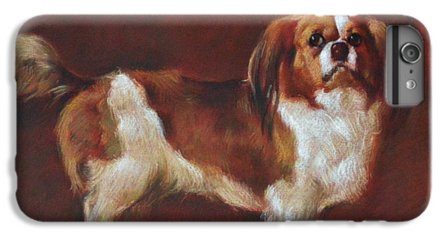 Pastel IPhone 7 Plus Case featuring the pastel A King Charles Spaniel by Iliyan Bozhanov