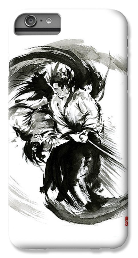 Aikido Techniques Martial Arts Sumi-e Black White Round Circle Design Yin  Yang Ink Painting Watercol IPhone 7 Plus Case