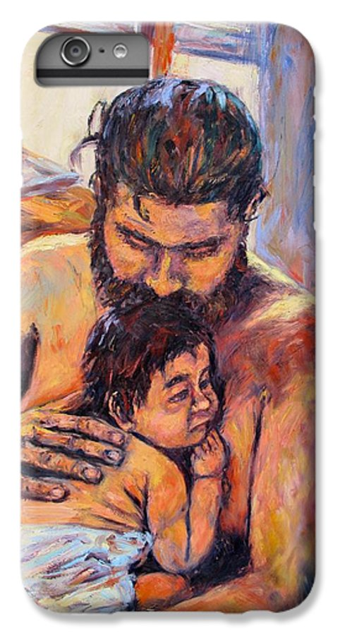 Kendall Kessler IPhone 7 Plus Case featuring the painting Alan And Clyde by Kendall Kessler