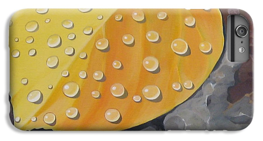 Aspen IPhone 7 Plus Case featuring the painting Aspen Rain by Hunter Jay