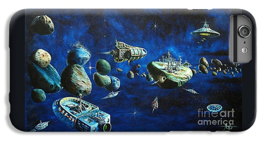 Fantasy IPhone 7 Plus Case featuring the painting Asteroid City by Murphy Elliott