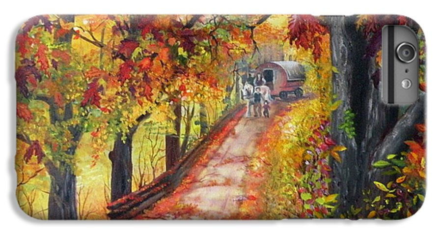 Scenery IPhone 7 Plus Case featuring the painting Autumn Dreams by Lora Duguay