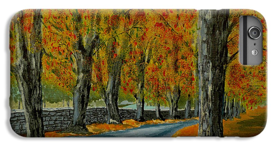 Autumn IPhone 7 Plus Case featuring the painting Autumn Pathway by Anthony Dunphy