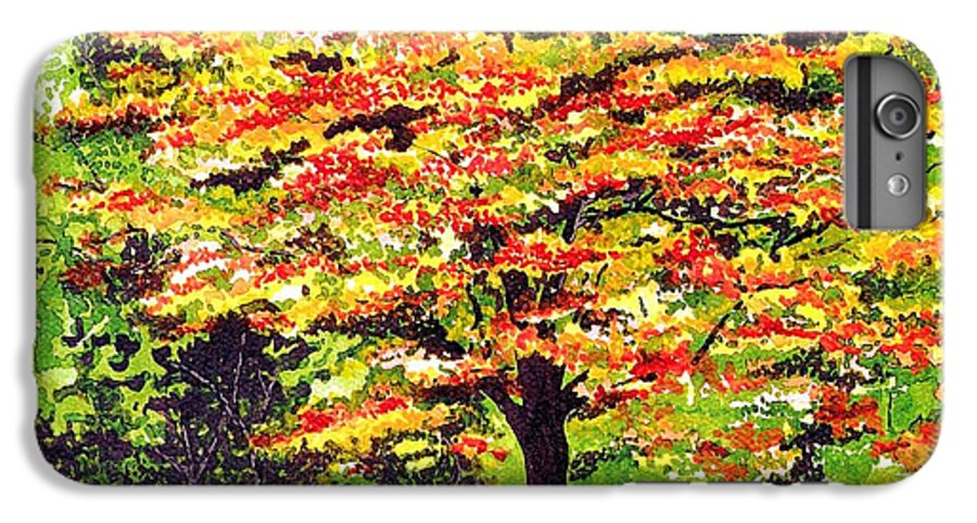 Fine Art IPhone 7 Plus Case featuring the painting Autumn Splendor by Patricia Griffin Brett