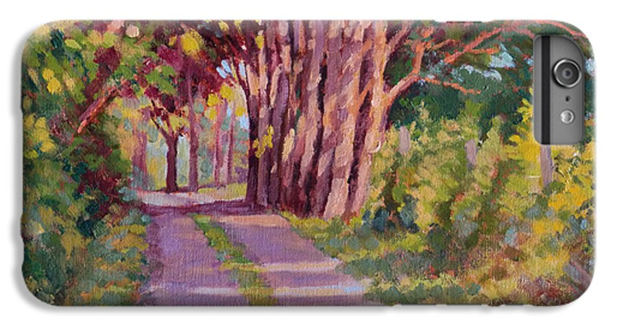 Road IPhone 7 Plus Case featuring the painting Backroad Canopy by Keith Burgess