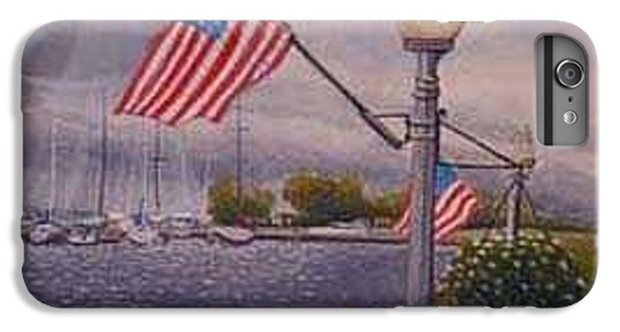 Rick Huotari IPhone 7 Plus Case featuring the painting Bayfield On The 4th by Rick Huotari
