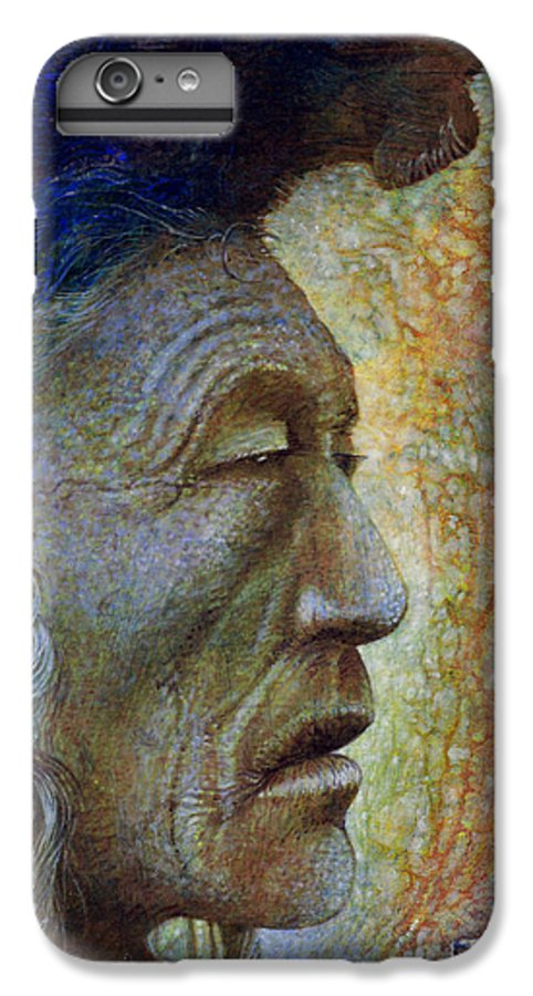 Bear Bull IPhone 7 Plus Case featuring the painting Bear Bull Shaman by Otto Rapp