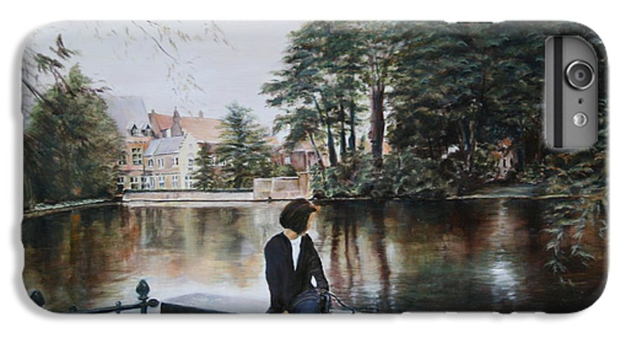 Water IPhone 7 Plus Case featuring the painting Belgium Reflections In Water by Jennifer Lycke