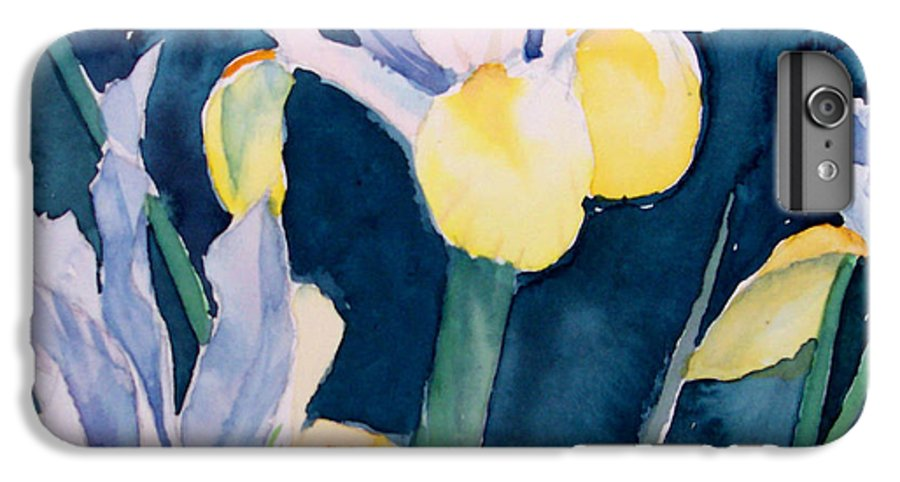 Flowers IPhone 7 Plus Case featuring the painting Blue Iris by Philip Fleischer