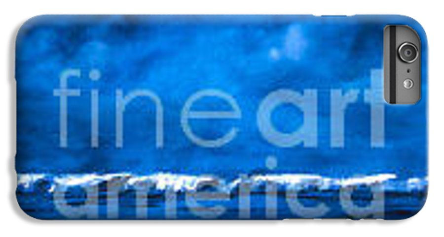 Abstract IPhone 7 Plus Case featuring the painting Blue On Blue by Wendy Froshay