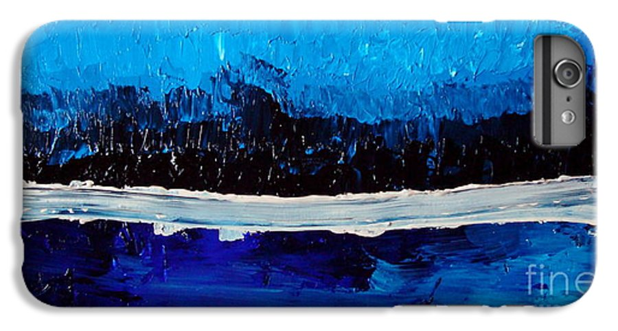 Blue IPhone 7 Plus Case featuring the painting Blues by Holly Picano