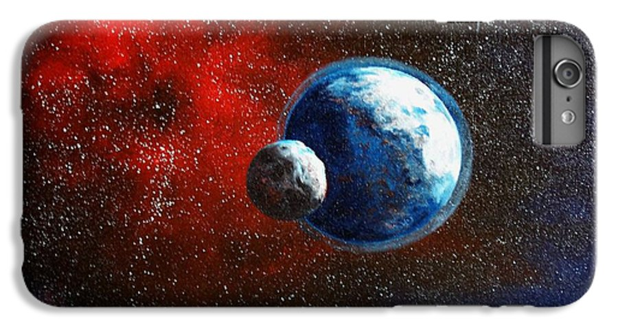 Astro IPhone 7 Plus Case featuring the painting Broken Moon by Murphy Elliott