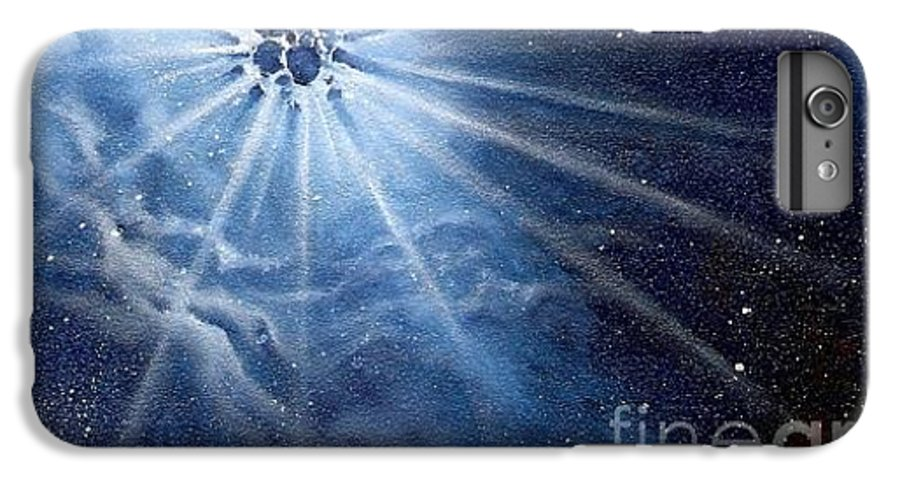 Outerspace IPhone 7 Plus Case featuring the painting Burst Of Light by Murphy Elliott