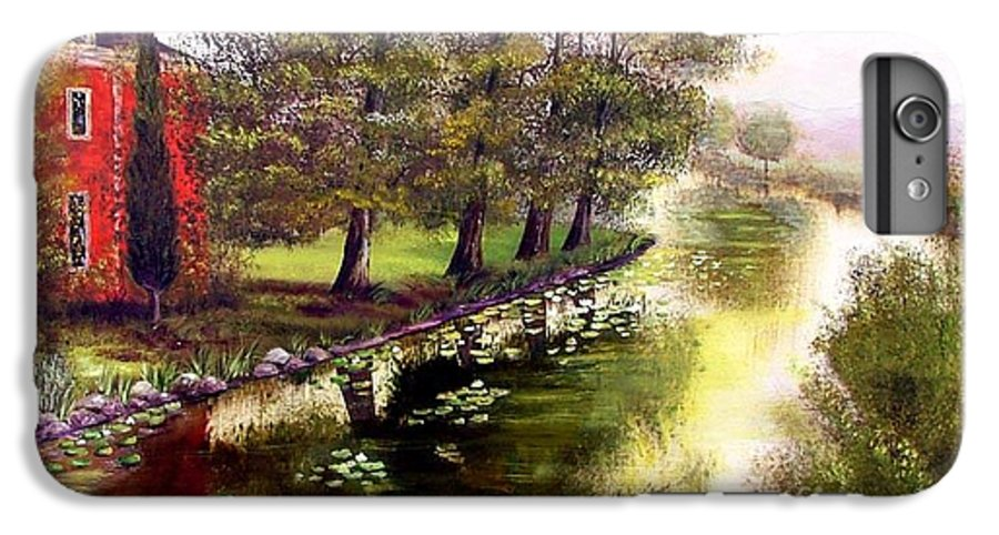 Lake IPhone 7 Plus Case featuring the painting By The Lake by Inna Montano