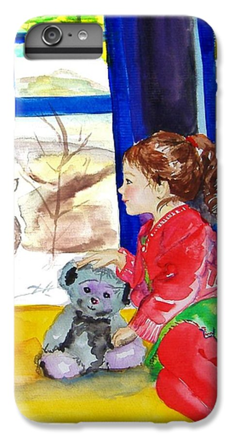 Christmas IPhone 7 Plus Case featuring the painting Childhood by Laura Rispoli