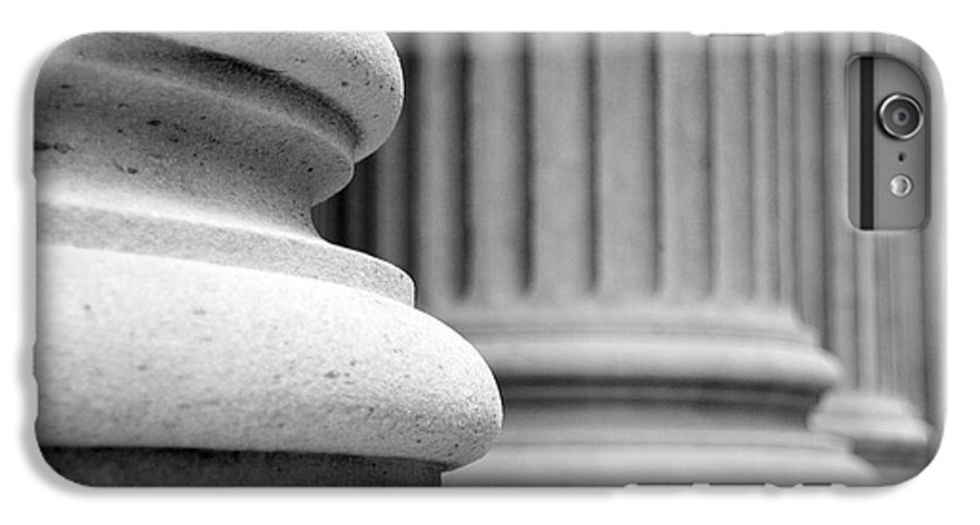 Black & White IPhone 7 Plus Case featuring the photograph Columns by Tony Cordoza