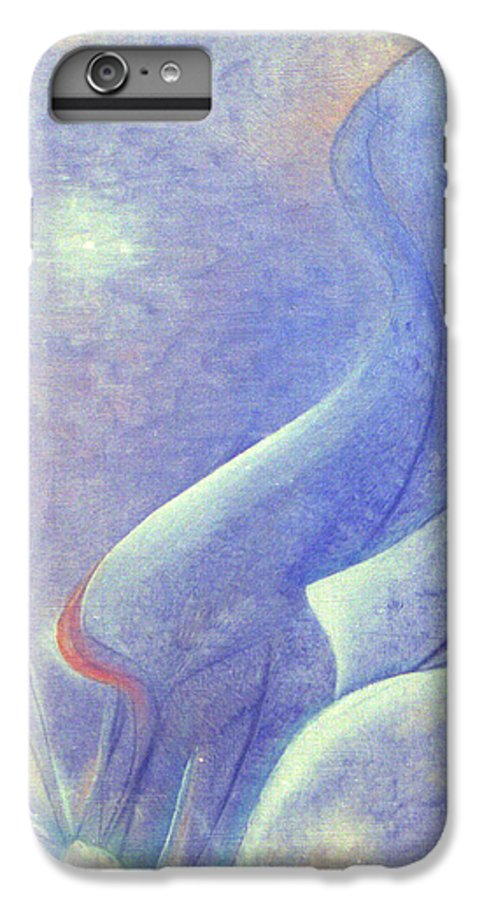 Blue IPhone 7 Plus Case featuring the painting Comfort by Christina Rahm Galanis