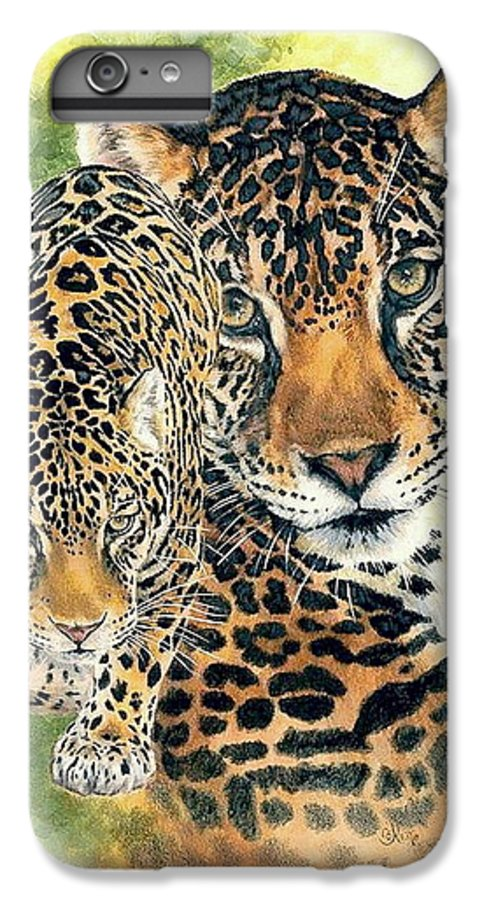 Jaguar IPhone 7 Plus Case featuring the mixed media Compelling by Barbara Keith